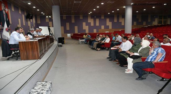 Haziran ayı meclis toplantısı yapıldı