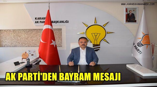 AK Parti Karabük İl Başkanı Altınöz'den Kurban Bayramı mesajı
