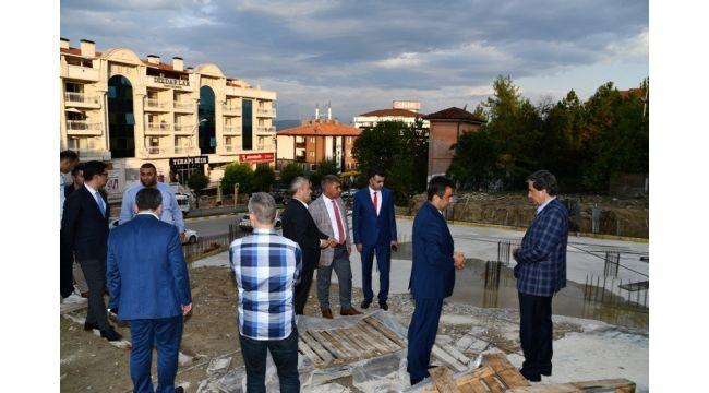 Vali Gürel, milletvekilleri ile birlikte incelemelerde bulundu