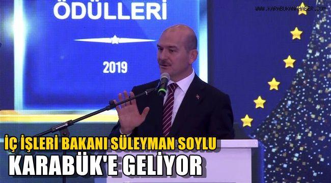 İç İşleri Bakanı Süleyman Soylu Karabük'e geliyor