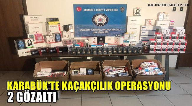 Karabük'te kaçakçılık operasyonu; 2 gözaltı