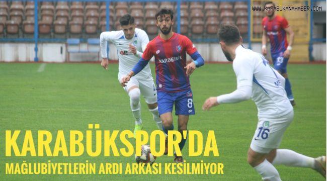 Karabükspor'da mağlubiyetlerin ardı arkası kesilmiyor