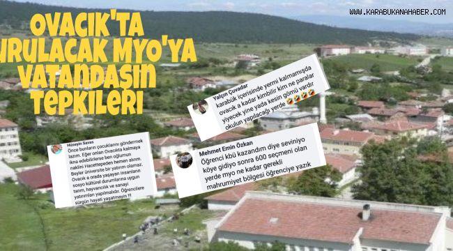 Ovacık'ta açılacak MYO'ya halkın tepkileri