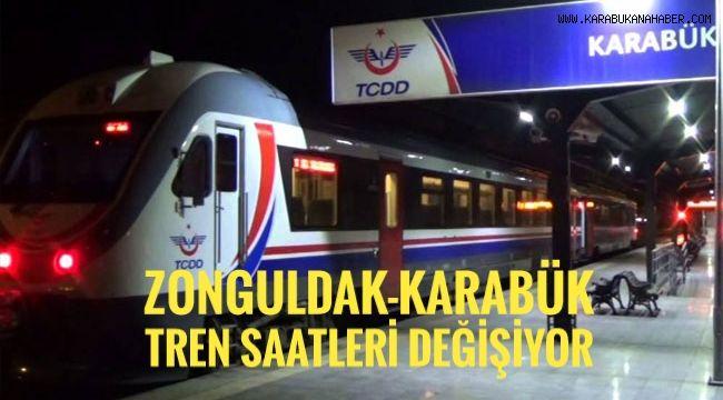 Zonguldak-Karabük tren saatleri değişiyor