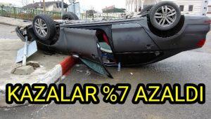 Kazalar yüzde 7 azaldı