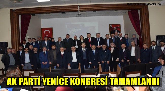 AK Parti Yenice 7.Olağan ilçe kongresi tamamlandı