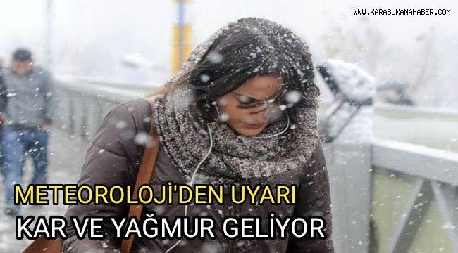 Kar yağışına karşı vatandaşlara uyarı