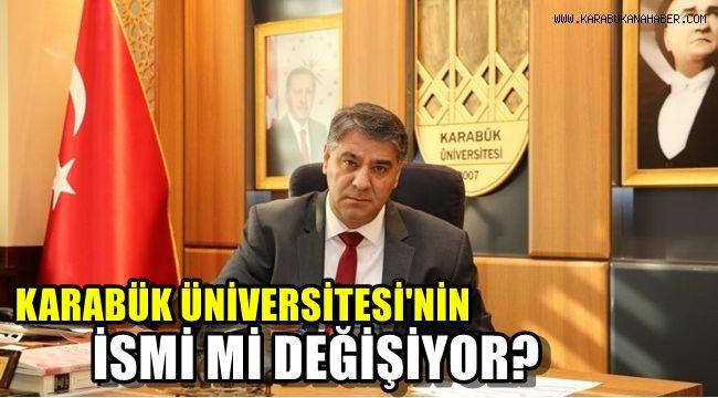 Karabük Üniversitesi'nden isim değişikliği açıklaması