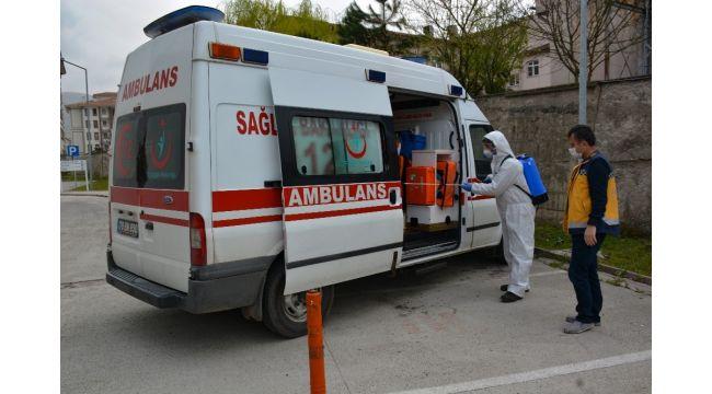 Yenice Devlet Hastanesi dezenfekte edildi