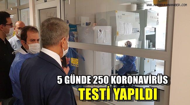 Karabük'te 5 günde 250 Korona virüs testi çalışması yapıldı
