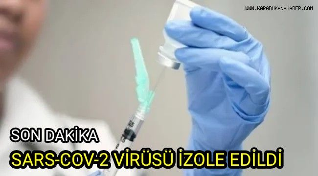 SARS-COV-2 virüsü izole edildi