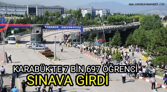 Karabük'te 7 bin 697 aday üniversite için ter döktü