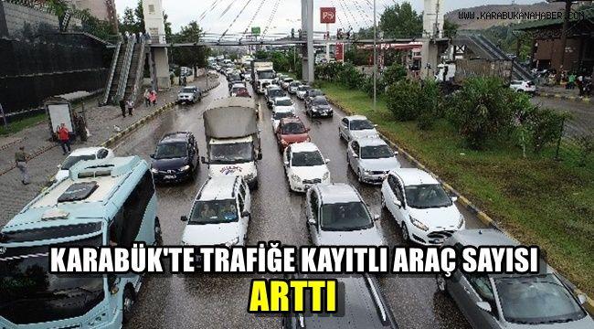 Karabük'te trafiğe kayıtlı araç sayısında arttı