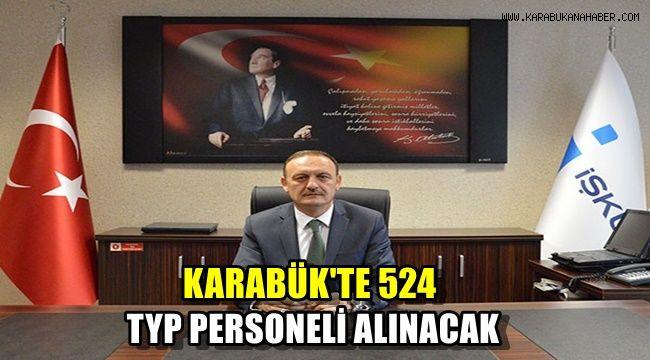 Karabük'te 524 TYP personeli alınacak