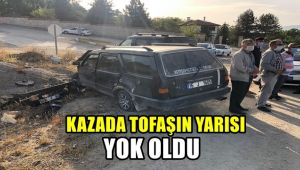Karabük'te kazada Tofaş'ın yarısı yok oldu