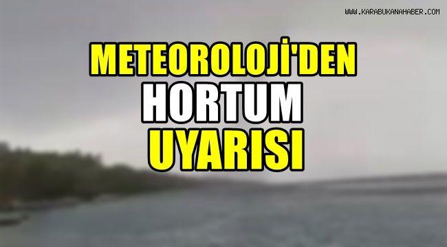 Meteorolojiden hortum uyarısı