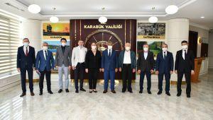 Türkiye Oryantiring Federasyonu Başkanı Akyüz'den, Vali Gürel'e ziyaret.