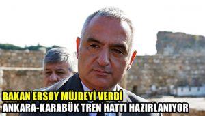 Bakan Ersoy müjdeyi verdi Ankara-Karabük tren hattı hazırlanıyor