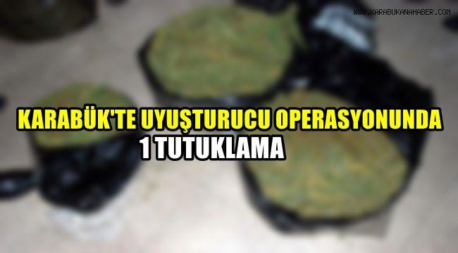 Karabük'te uyuşturucu operasyonunda 1 tutuklama