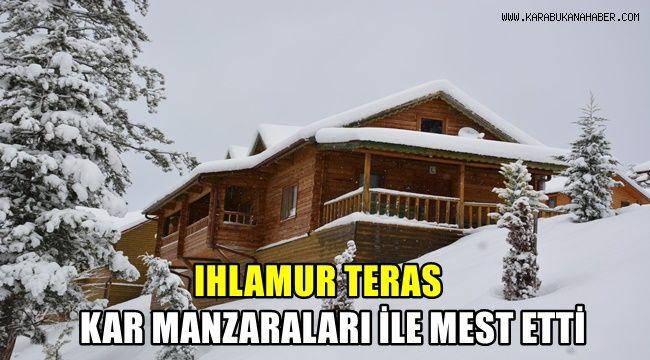 Ihlamur Teras kar manzaraları ile mest etti