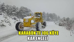 Karabük'te 106 köye kar engeli