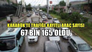 Karabük'te trafiğe kayıtlı 67 bin 165 araç var
