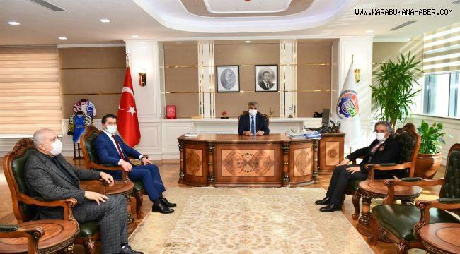 İl Defterdarı Osman Koçaş ve Vergi Dairesi Müdürü Recep Serdar'dan Vali Gürel'e ziyaret
