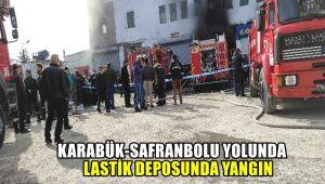 Karabük- Safranbolu yolunda Lastik Deposunda yangın