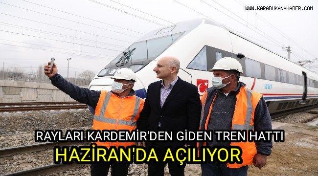 Rayları Kardemir'den giden tren hattı Haziran'da açılıyor