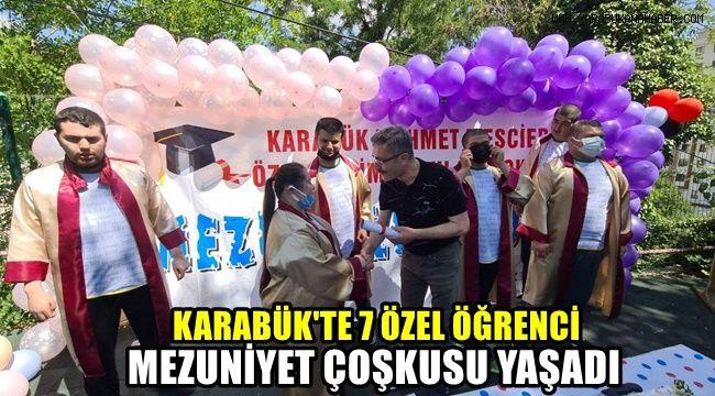 Karabük'te 7 özel öğrenci mezuniyet coşkusu yaşadı