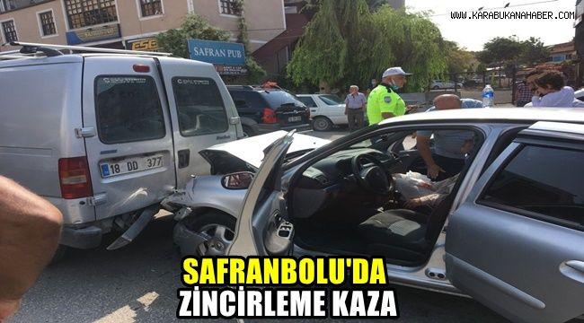 Safranbolu'da zincirleme kaza: 2 yaralı