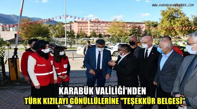Karabük Valiliği'nden Türk Kızılayı Gönüllülerine