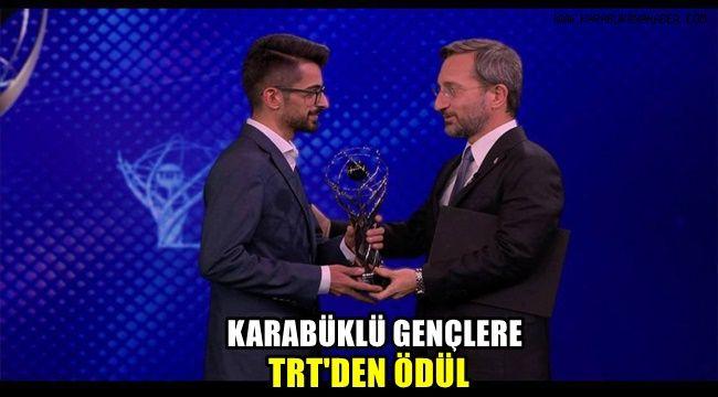 Karabüklü gençlere TRT'den ödül